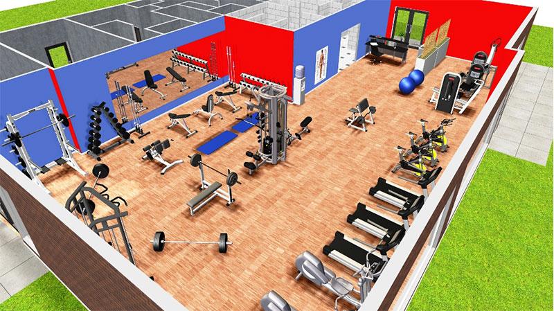 3D Floorplan with wooden floors