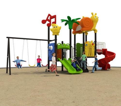 KIDS EQUIPMENT: SLUG AND SLIDE TWIRL PLAYGROUND [DFC 196-2]